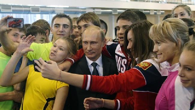 Russian President Putin taking a Safe Selfie