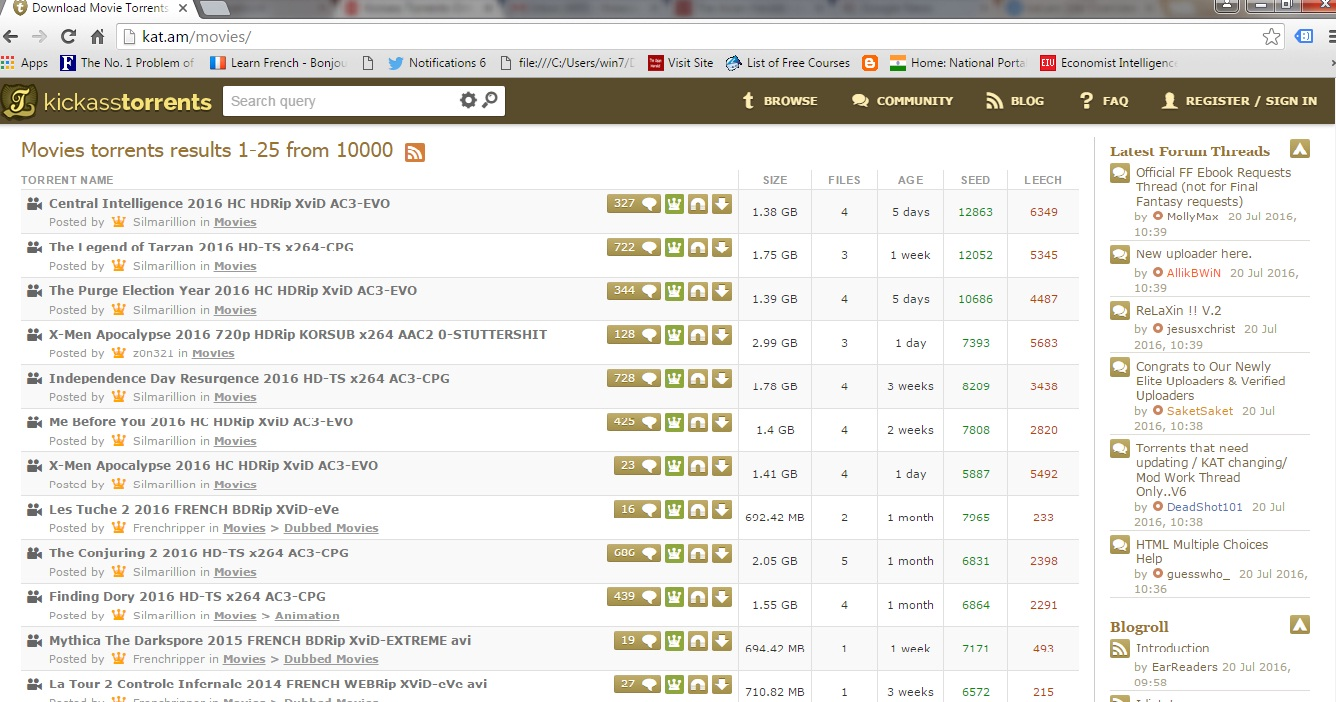 Kickass Torrents is back1