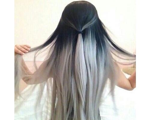 Silver Ombre Hair Color