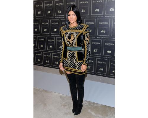 Kylie Jenner in Balmain LBD