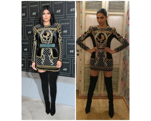 Kylie and Deepika in Balmain LBD