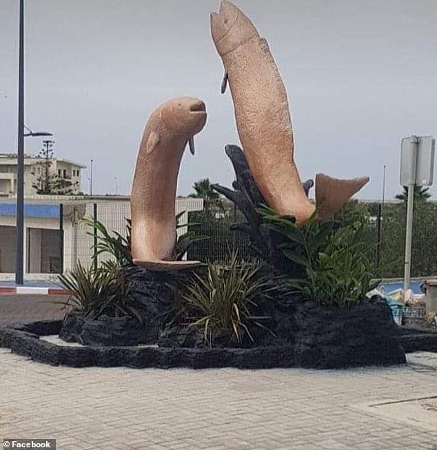 Penis shaped statues in Morocco