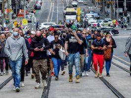 Anti LOckdown Protest Australia