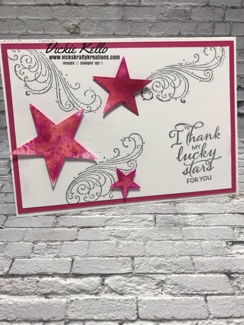 I thank my lucky stars card