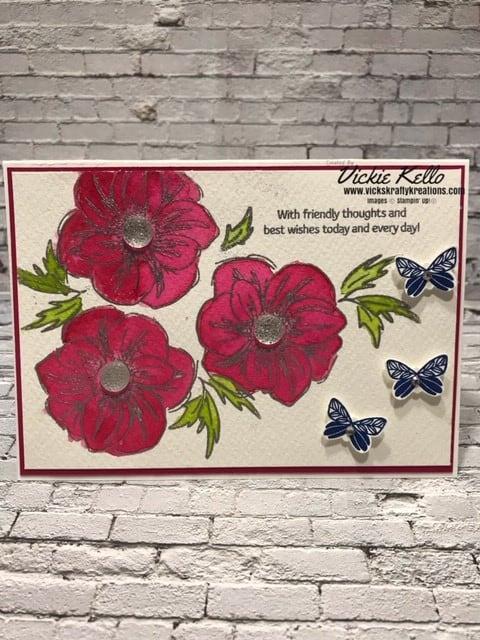 Lovely Lipstick Floral Essence Card