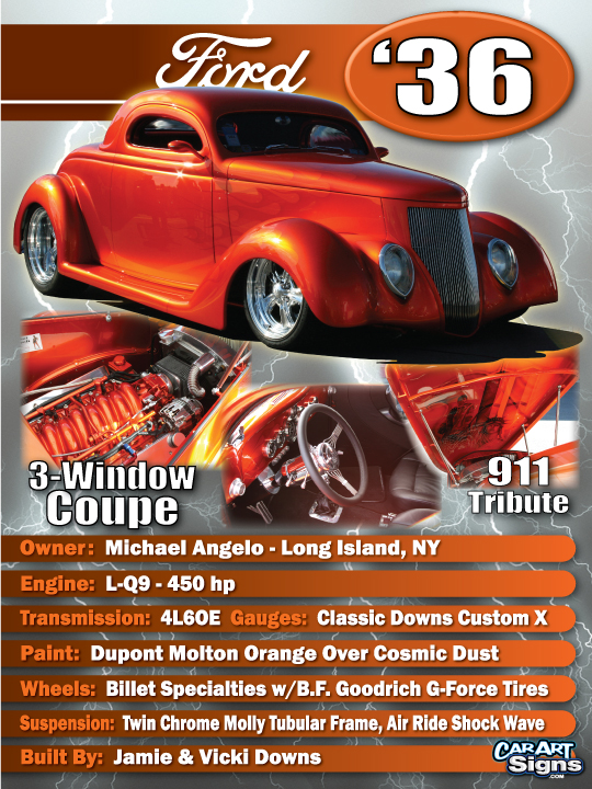 Ford '36 Show Board
