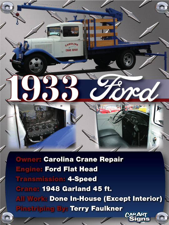 Ford 1933 Show Board