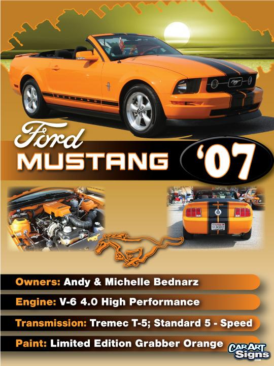 Mustang '07 Show Board