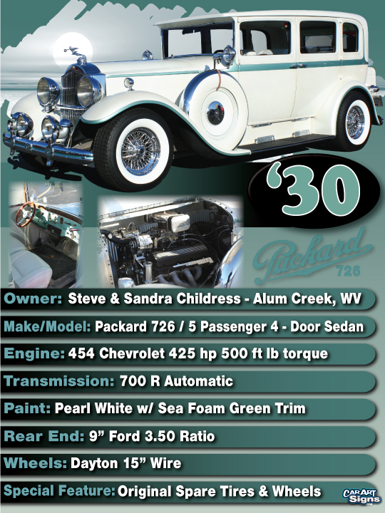 Packard '30 Show Board