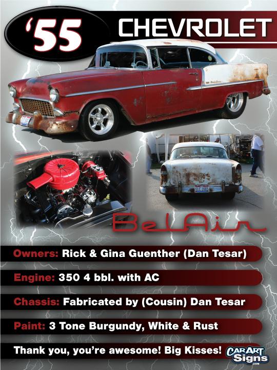 Chevrolet '55 Show Board