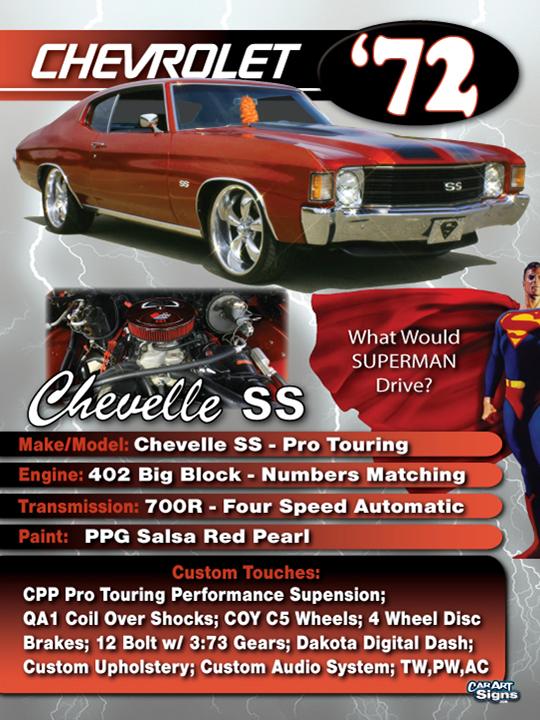 Chevrolet '72 Show Board