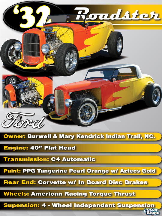 Ford '32 Show Board