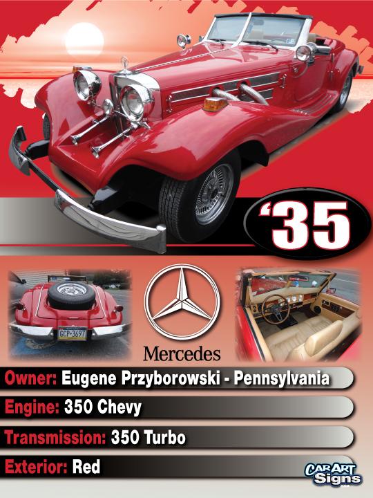 Mercedes '35 Show Board