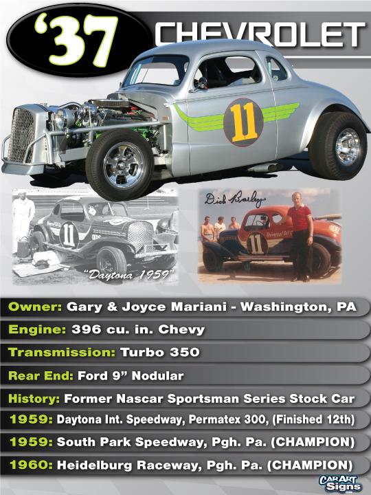 Chevrolet '37 Show Board