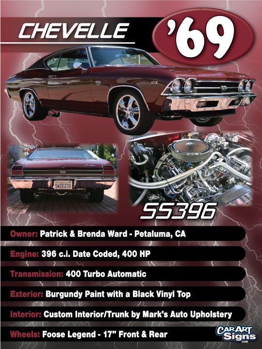 Chevelle '69 Show Board