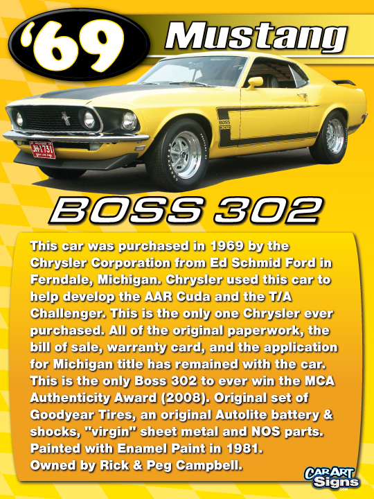 Mustang '69 Show Board