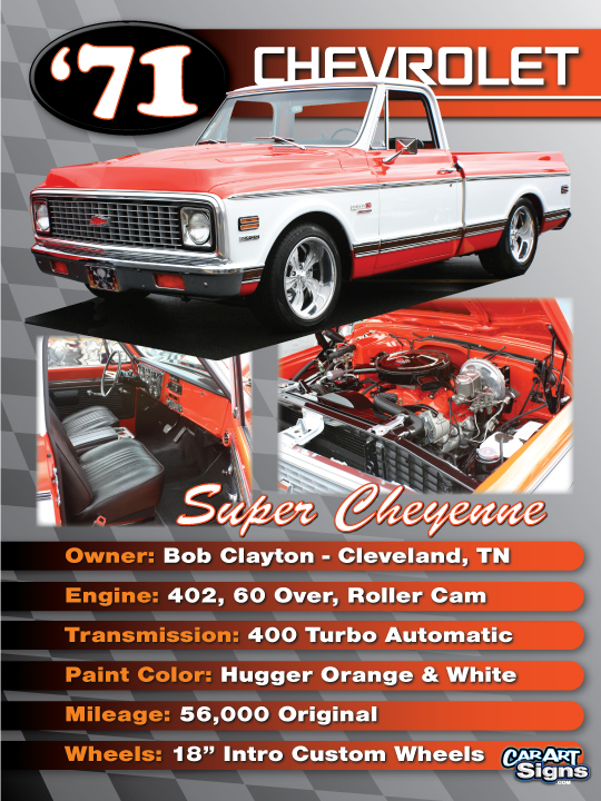 Chevrolet '71 Show Board
