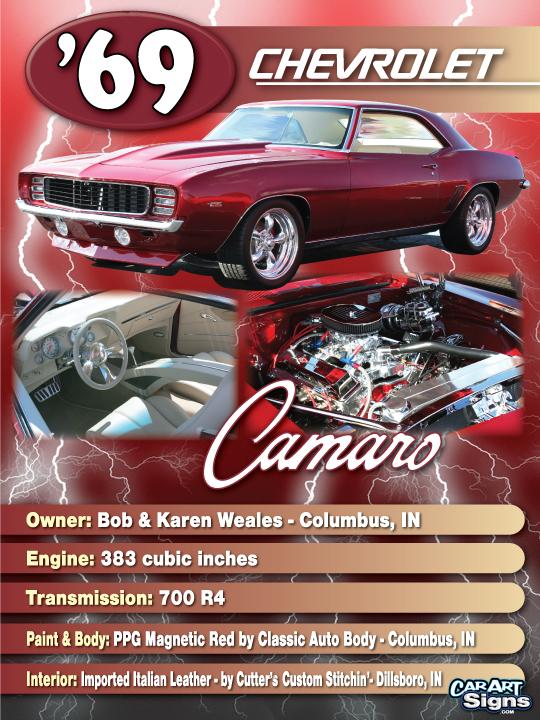 Chevrolet '69 Show Board