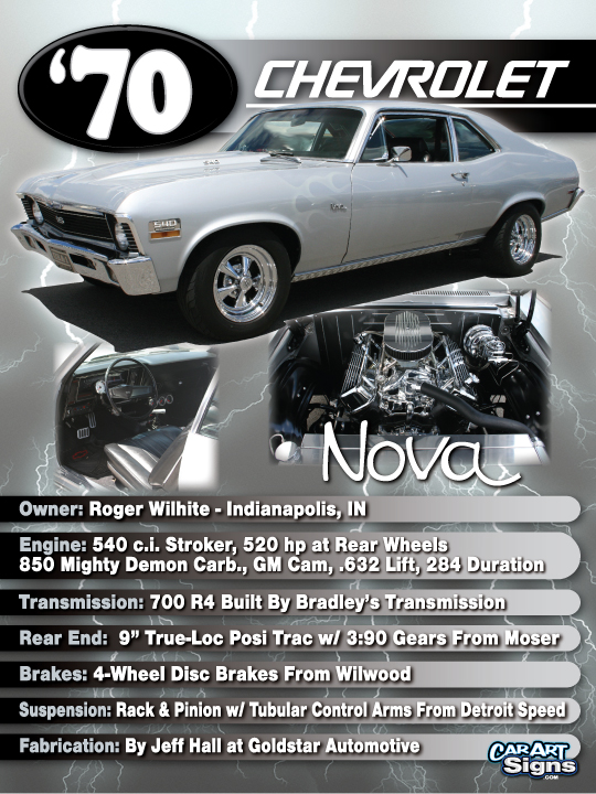 Chevrolet '70 Show Board
