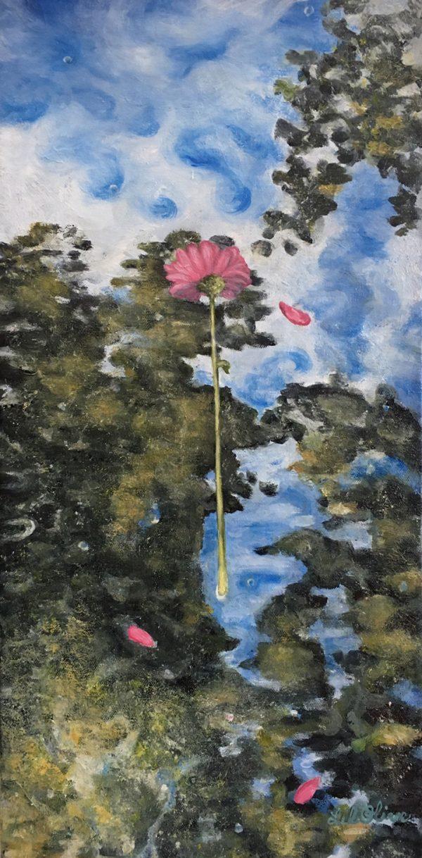 Lil Olive Art - Pink Zinnia