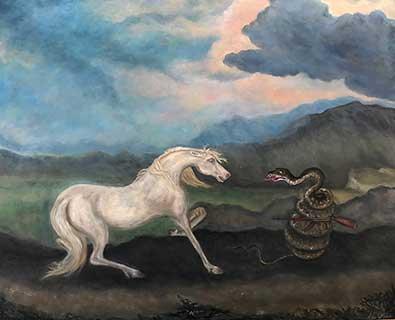 Snake Hates Horse - Lil Olive Art