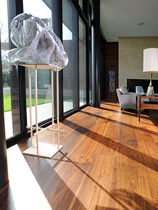 Walnut wide plank flooring