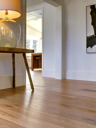 A beautiful wide plank floor