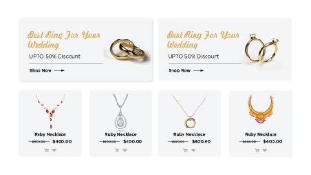 Ecommerce jewelry store development
