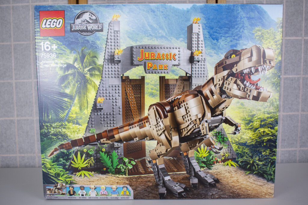 Jurassic Park T-Rex Rampage - Front of Box Image.
