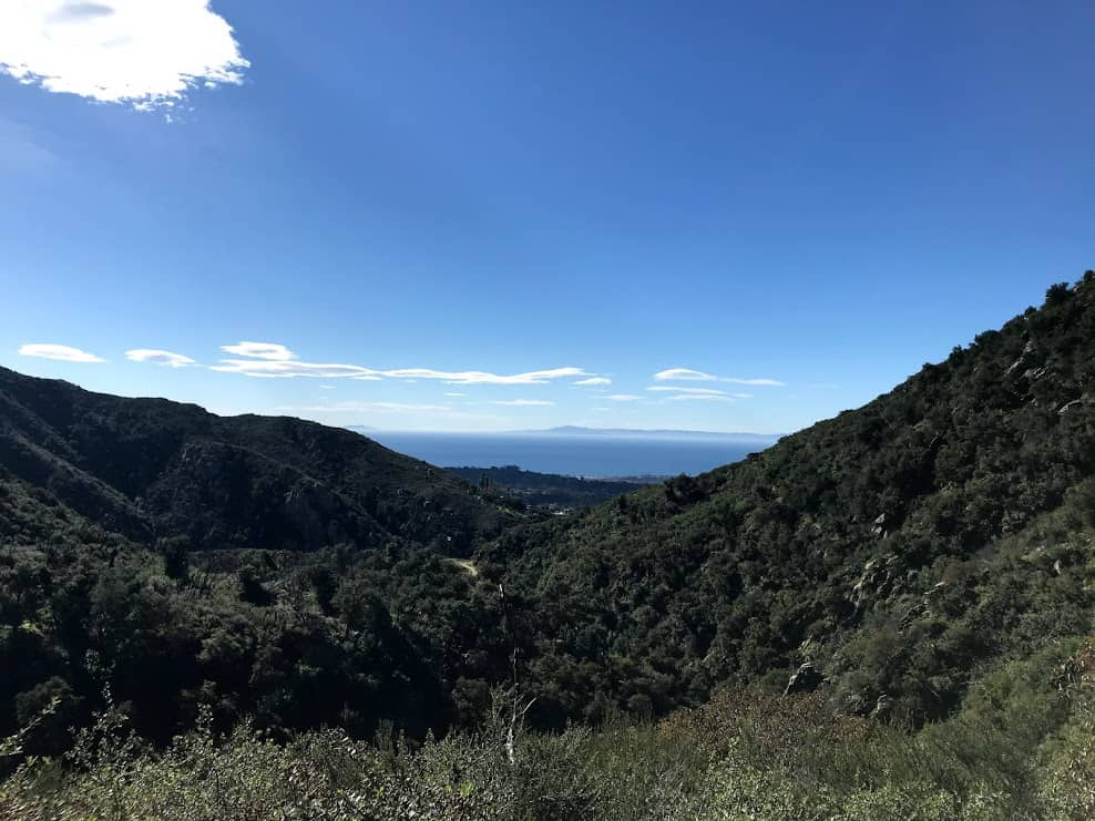 view from start of Inspiration Point Santa Barbara/Tunnel Trailhead