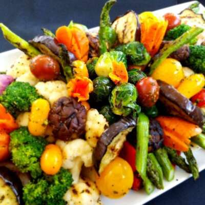 Variety of grilled veggies