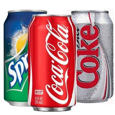 Assorted Can Sodas