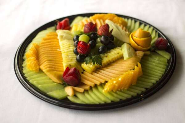 Assortment of fruits on a platter