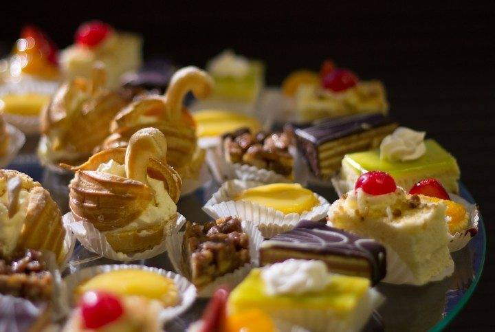 Variety of mini pastries