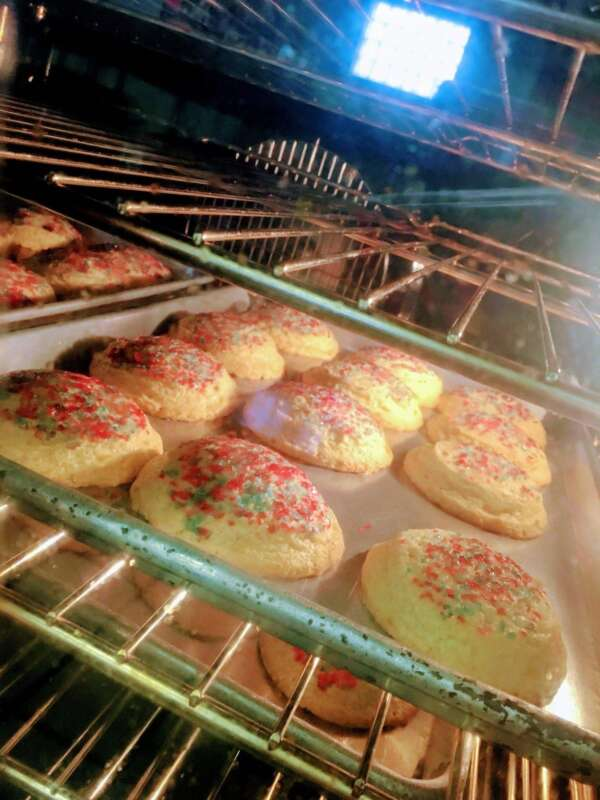 Cookies with red and blue sprinkles