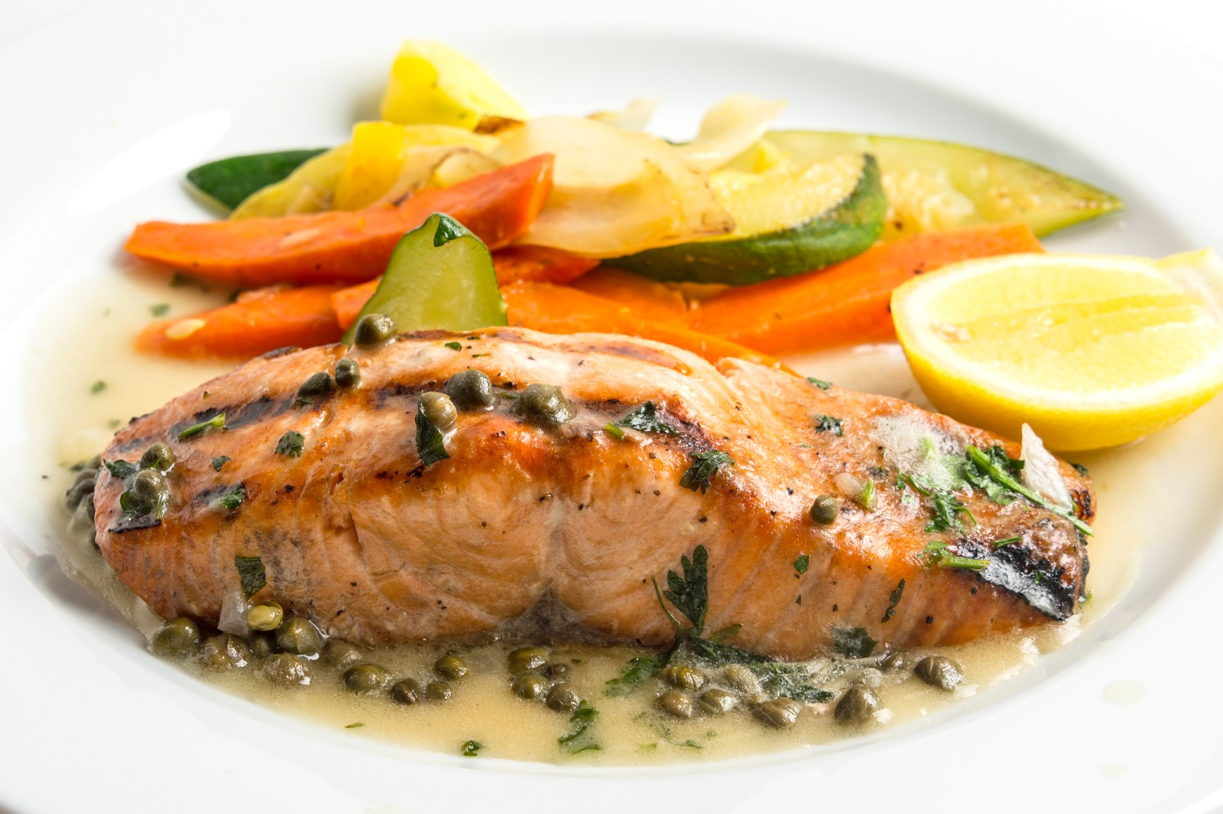 Lemon Caper Grilled Salmon