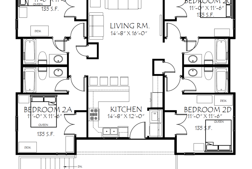 202WA 2nd Floor Plan