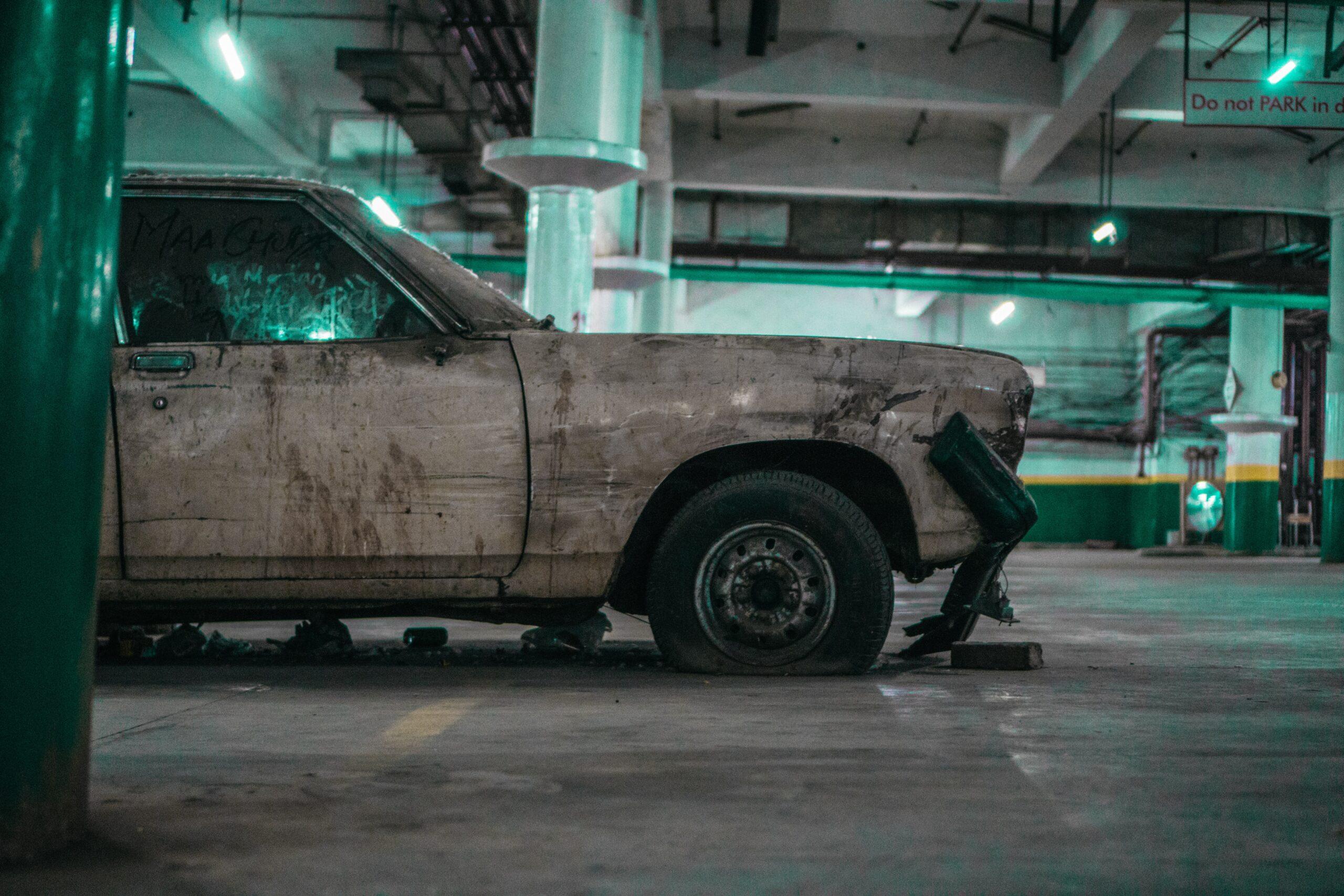 non running car