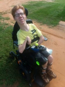 Hunter in his Powerchair
