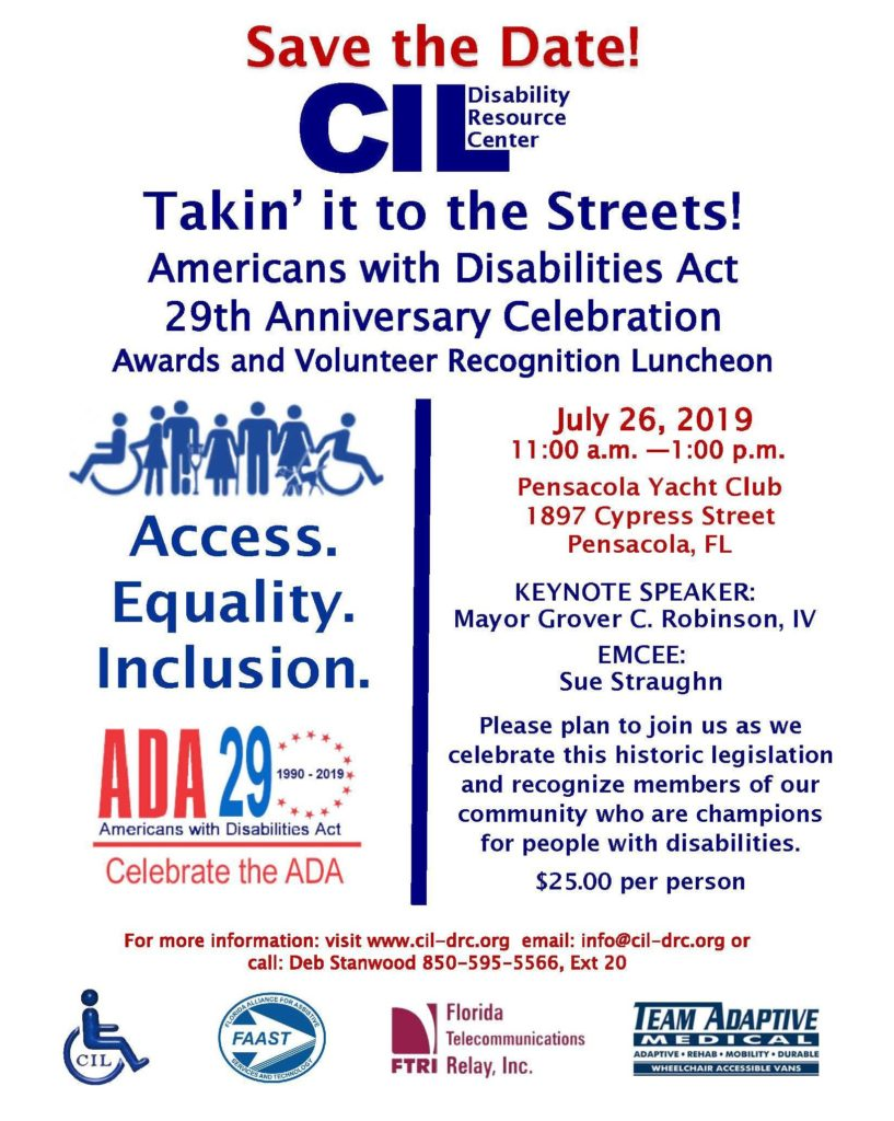 2019 ADA Anniversary Save the Date Flyer