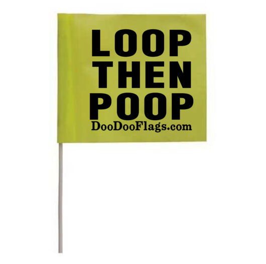 Trail Dog, Dog Walking, Hiking, Dog Poop Bag locator, Loop then Poop Flags