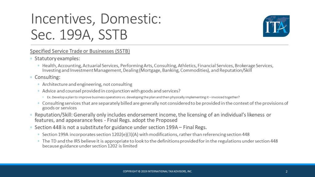 section 199A international tax advisors inc. international tax accountant CPA miami doral ft. lauderdale drew edwards, slide 2