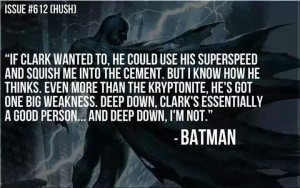 The absolute best description of the differences between Batman and Superman.
