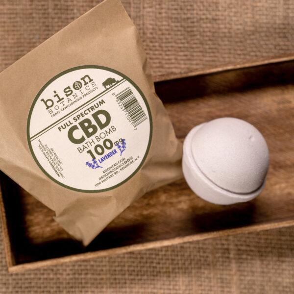 100mg CBD bath bomb lavender scented