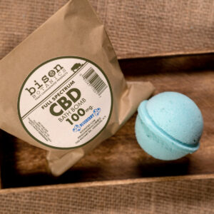 100mg CBD bath bomb blueberry scented