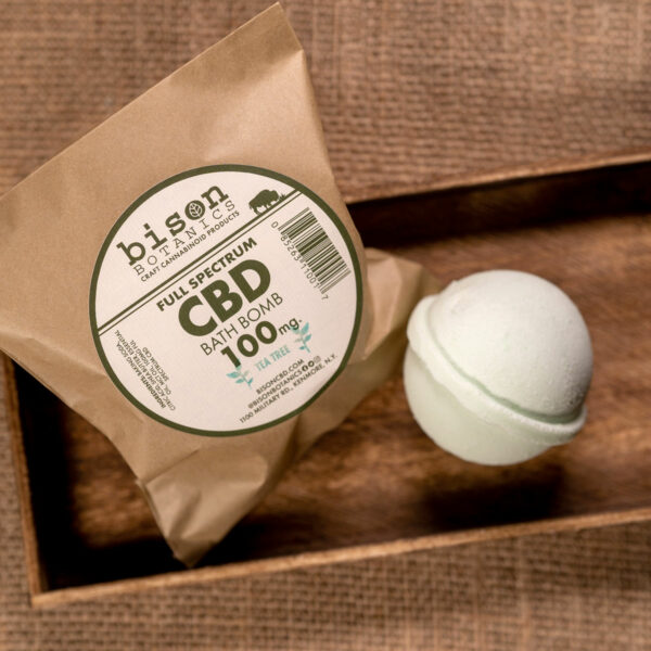 100mg CBD bath bomb tea tree oil scented