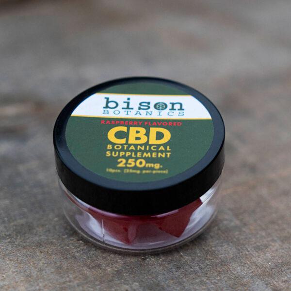 250mg cbd gummy raspberry flavored