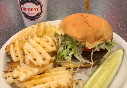 hamburger waffle fries diner charlotte