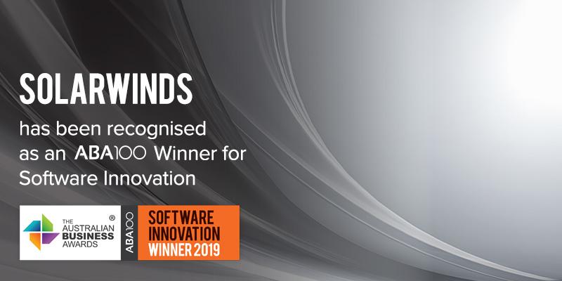 SolarWinds - ABA100 Software Innovation Awards
