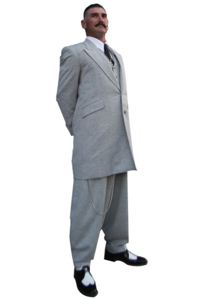Light Gray Tweed Zoot Suit